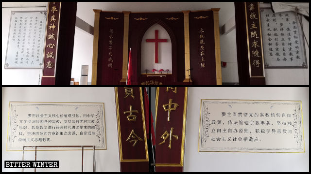 The Ten Commandments have been removed, and Xi Jinping quotations posted instead in churches everywhere in China.