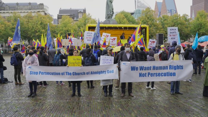 Hundreds Protest Against Disregard of Human Rights in Dutch Policy Memo on China