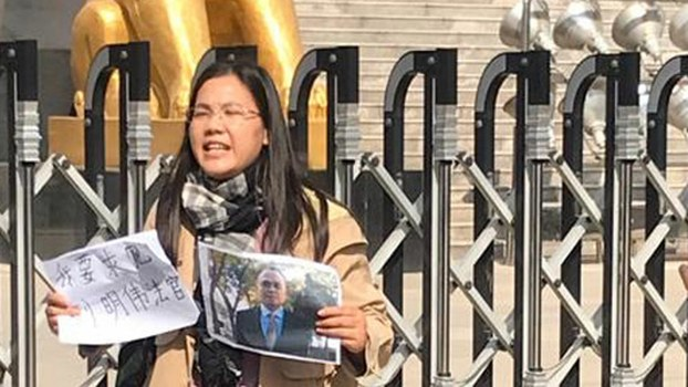 Wife of Detained Chinese Rights Lawyer Meets With French Officials