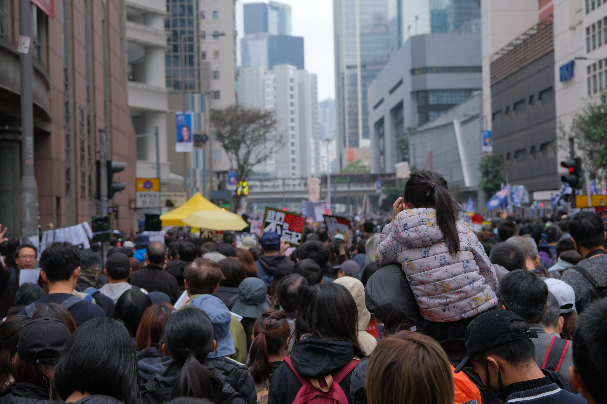 One Million Join New Year Protest March in Hong Kong