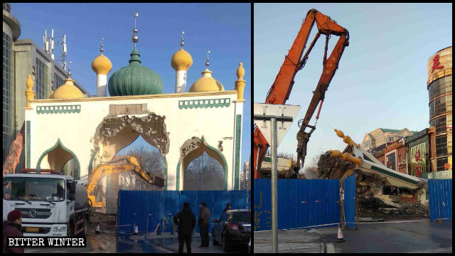 Islamic Structures Demolished, Symbols Removed from Shops