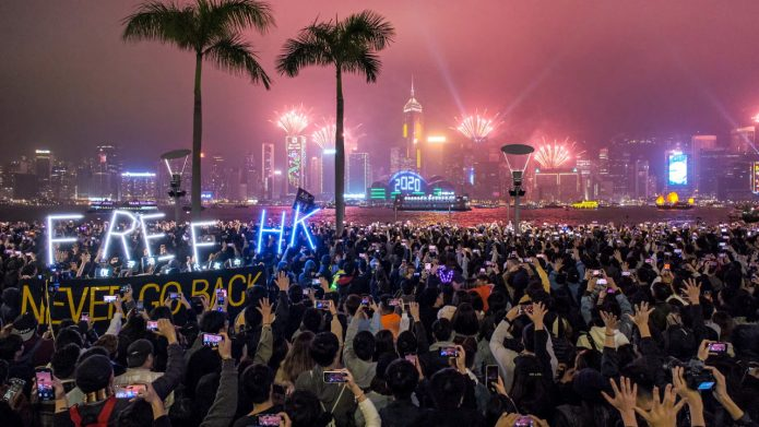 Hong Kong Protesters Count Down For Liberation, Revolution at New Year