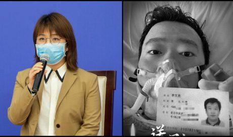 Xinhua News Agency journalist Liao Jun and late doctor Li Wenliang.