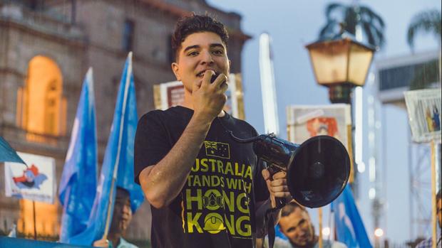Australian student activist Drew Pavlou