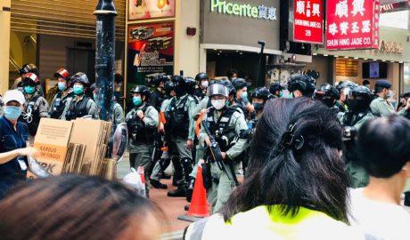 Hong Kong protest at Causeway Bay on 24 May 2020