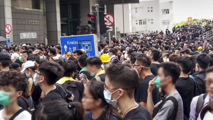 More Than 200 Pro-Democracy Protesters Arrested in Hong Kong