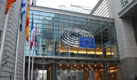 Het pand van het Europees Parlement in Brussel.