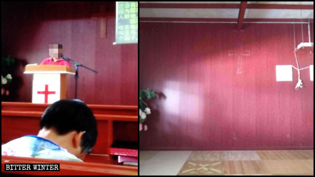 The cross and other religious symbols were removed from a Three-Self venue in Heyuan.