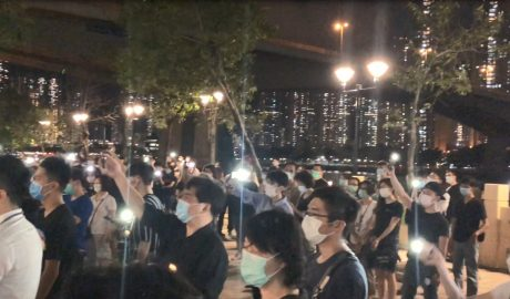 Candlelight vigil for the 31st anniversary of the June 4th incident in Tsing Yi Promenade, Hong Kong