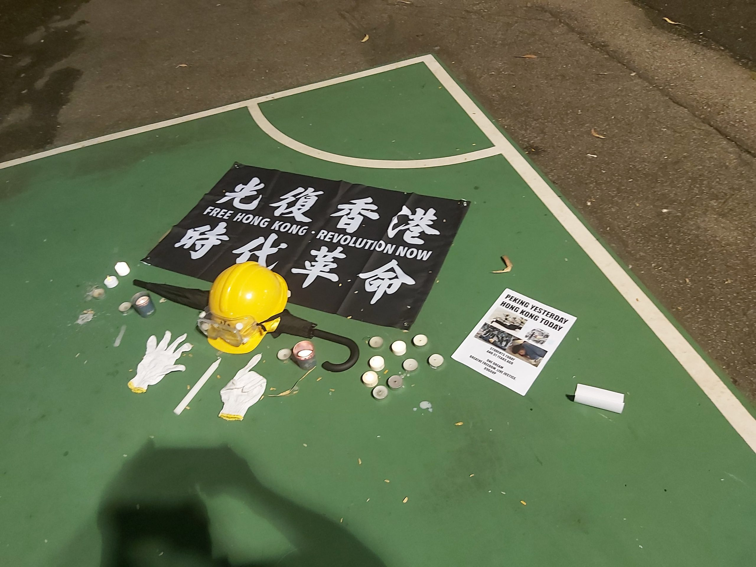 Candlelight vigil for the 31st anniversary of the June 4th incident in Victoria Park, Hong Kong