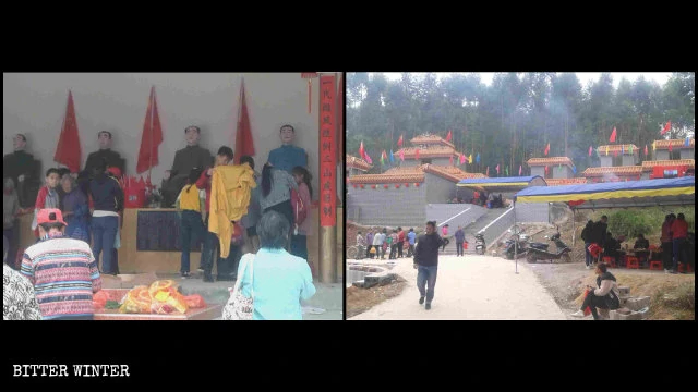 The Mujiling Temple in Heng county's Baihe town receives countless worshippers.