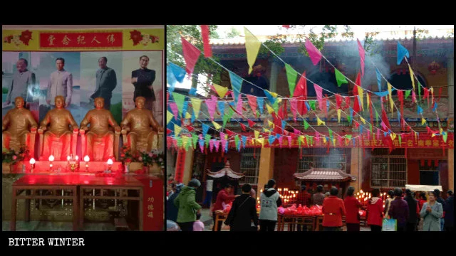 Chairman Mao Replaces Buddha in Temples