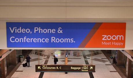 Zoom advertisement at Denver International Airport