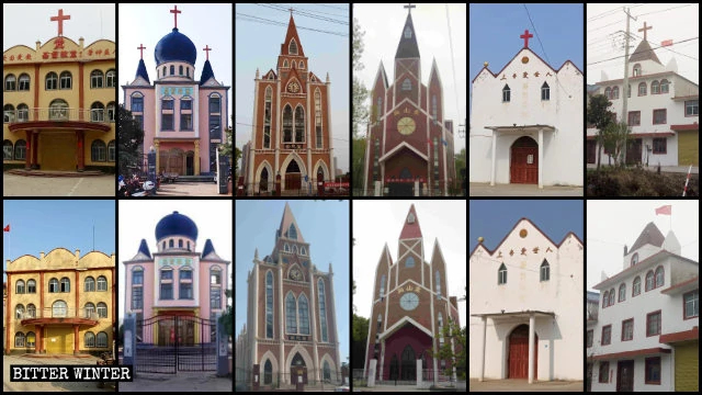 Numerous churches in Anhui had their crosses removed between January and April.