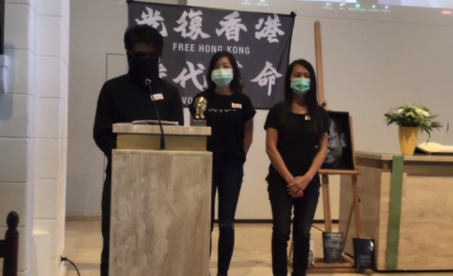 Hong Kong representatives in their speech.