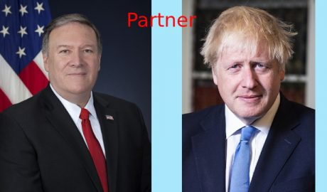 U.S. Secretary of State Mike Pompeo and British Prime Minister Boris Johnson
