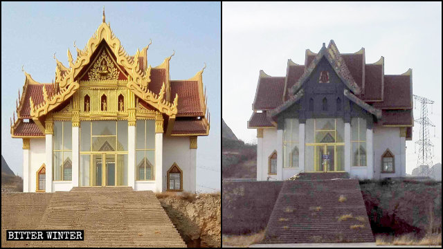 The appearance of the temple's Lasa Hall was changed completely.