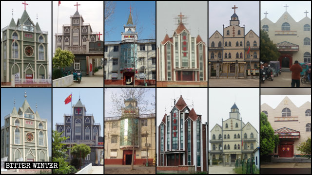 Crosses were removed from numerous Three-Self churches in Fuyang city.