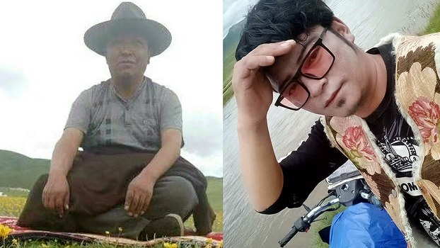 Tibetan community leader Bu Dokyab (L) and his nephew Gyaltsen (R) are shown in undated photos