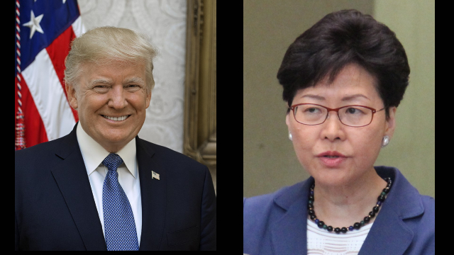 US Sanctions Hong Kong Leaders