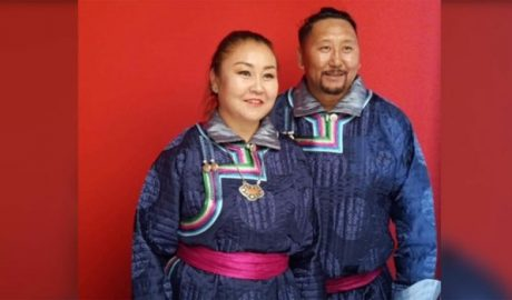 Ethnic Mongolian activists Yang Jindulima and her husband, among thousands detained in Inner Mongolia amid language-rights protests in Sept. 2020, are shown in an undated photo