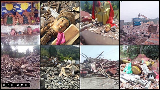 160+ Folk Religion Temples Demolished, Shut Down in Sichuan