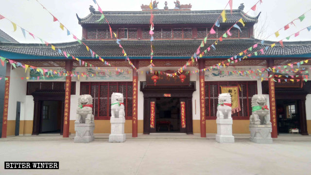 The folk religion temple was built with villagers' money.