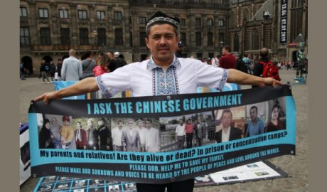 "A Uyghur activist asking, ""Where is my family?"" He have had no contact with his family."