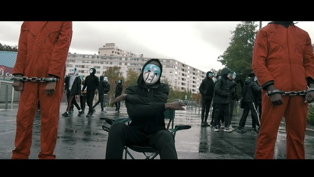 A still frame from the music video for Kalash MQS rap song 'Hall.'