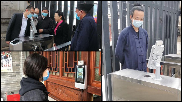 Facial recognition cameras are being installed in Poyang county's religious venues.