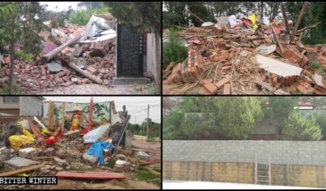 Numerous folk religion temples in Hebei Province were demolished.