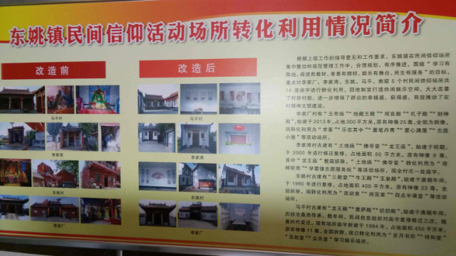 TheSummary of Conversion and Use of Folk Religion Activity Venues in Dongyao Town.
