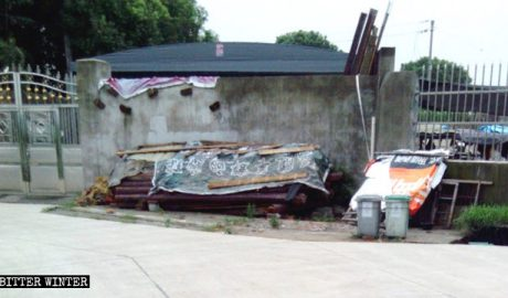 The original appearance of the demolished house church in Xincheng.