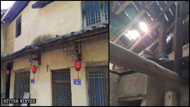Dilapidated residences in Xiadang village.
