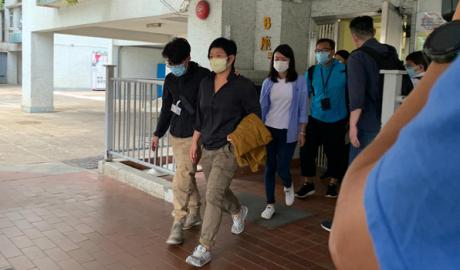 Investigative journalist Bao Choy is taken into custody by Hong Kong police, Nov. 3, 2020