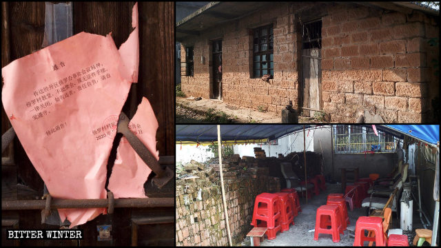 Nine old Local Churches in Yushan county were shut down in October