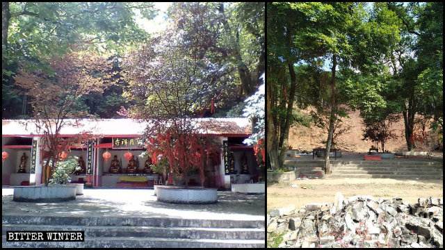 The Baoyue Temple was leveled to the ground.