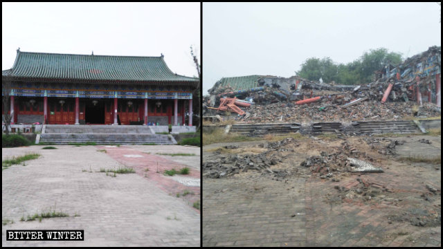 The Lianhuayuan Temple was turned into ruins.