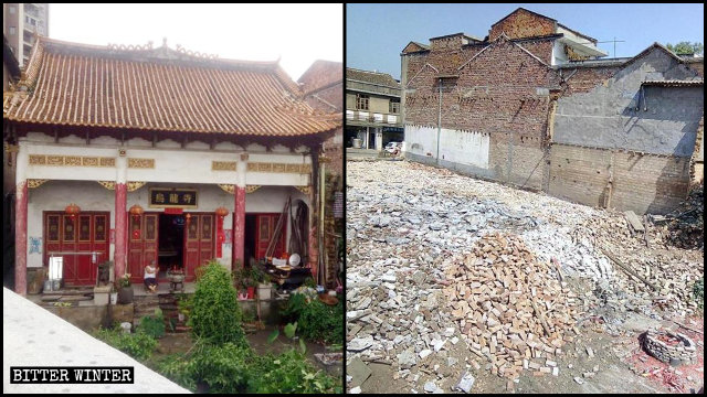 The Wulong Temple was demolished on October 20.