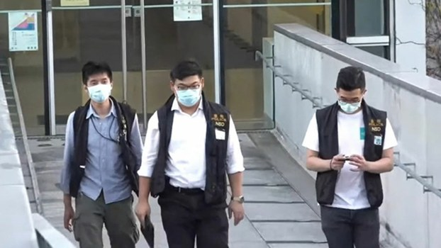 Hong Kong National Security Police Raid Campus Over Slogans