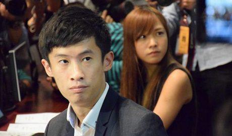 Former democratically elected legislators Baggio Leung and Yau Wai-ching