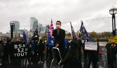 Save12HK Youths Assembly in London Nathan Law Kwun-chung